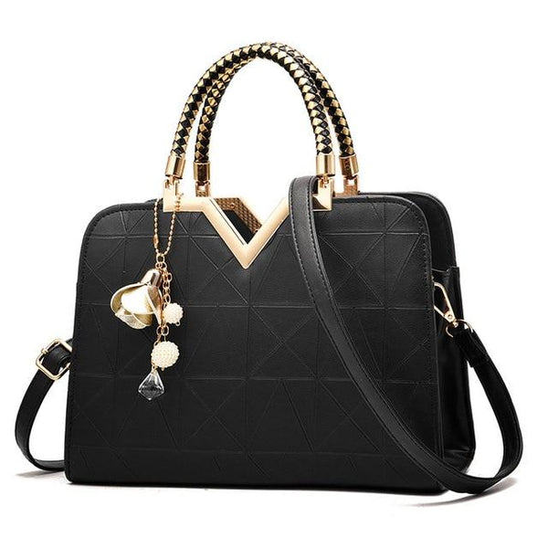 Women Handbags Solid Shoulder Bags Zipper Casual Crossbody Bag - fashionshoeshouse
