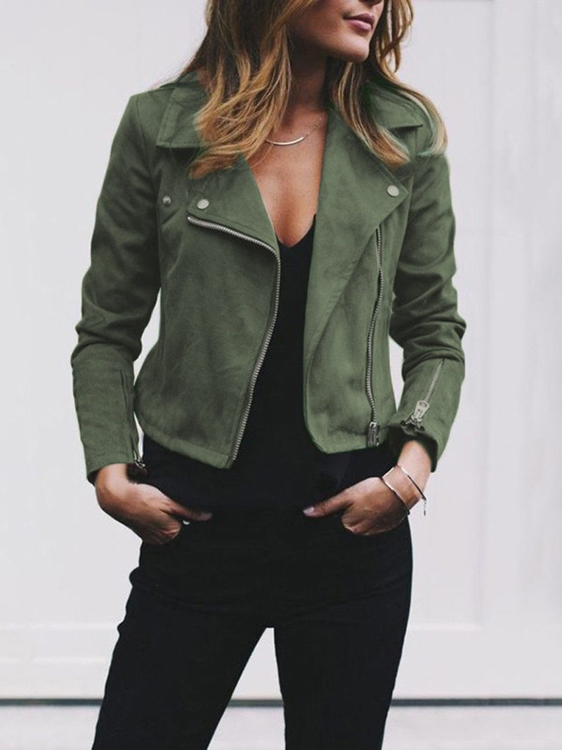 Casual Fall Zippers Jacket - fashionshoeshouse