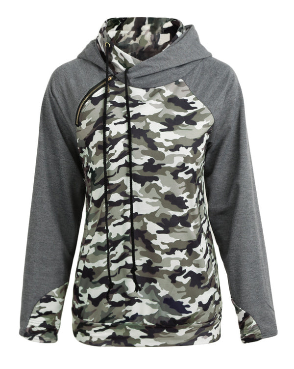 Hooded Long Sleeves Casual Sweatshirt - fashionshoeshouse