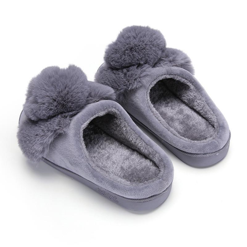 Winter Cute Bunny Slippers Warm Plush - fashionshoeshouse