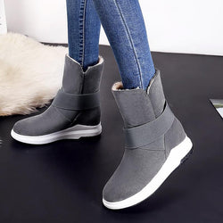 Mid-Calf plush snow boots - fashionshoeshouse