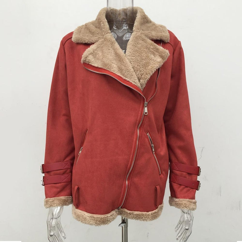 Winter warm Cotton Lambswool Jacket Plus Size - fashionshoeshouse