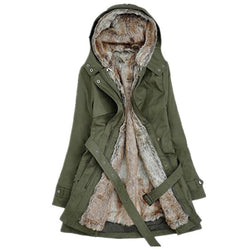 Winter warm cotton hooded coat - fashionshoeshouse