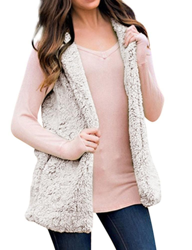 Fleece Sleeveless Hooded Cardigan with Pocket - fashionshoeshouse