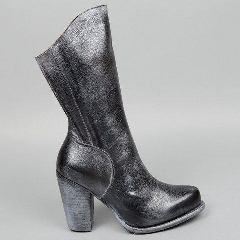 Vintage Boots For Women Zipper Heeled Boots - fashionshoeshouse
