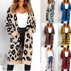 9 Colors Autumn Winter Loose Knitted Pocket Coats - fashionshoeshouse
