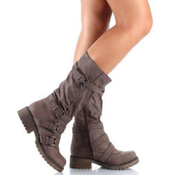 Martin Boots With Buckles - fashionshoeshouse