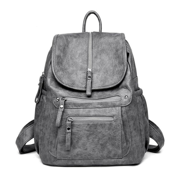 Casual Large Capacity Soft Backpack Vintage High Quality School Backpacks - fashionshoeshouse