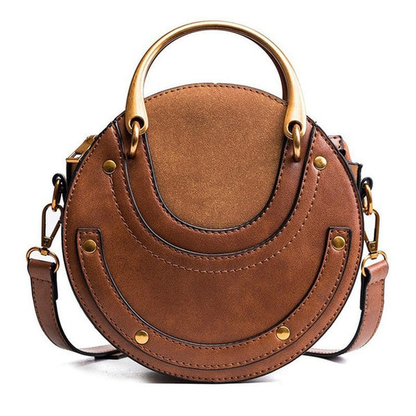 Fashion Round Handbag Shoulder Bag - fashionshoeshouse