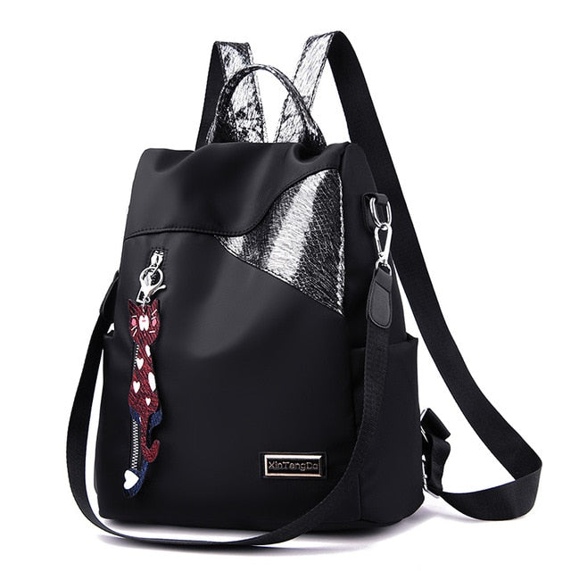 Simple style Oxford cloth backpack anti-theft - fashionshoeshouse