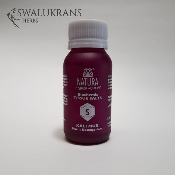 Natura Tissue Salts - Kali Mur  No 5  (125 Tablets)