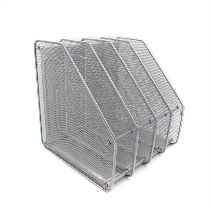 Mesh Metal 4 Compartment Organizer, Home Business Stop