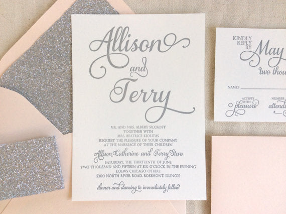 Everything that sparkles: The Stargazer Letterpress Printed Wedding Invitation