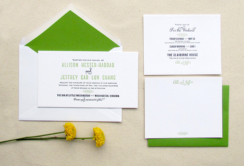 Spring Green Wedding Invitations