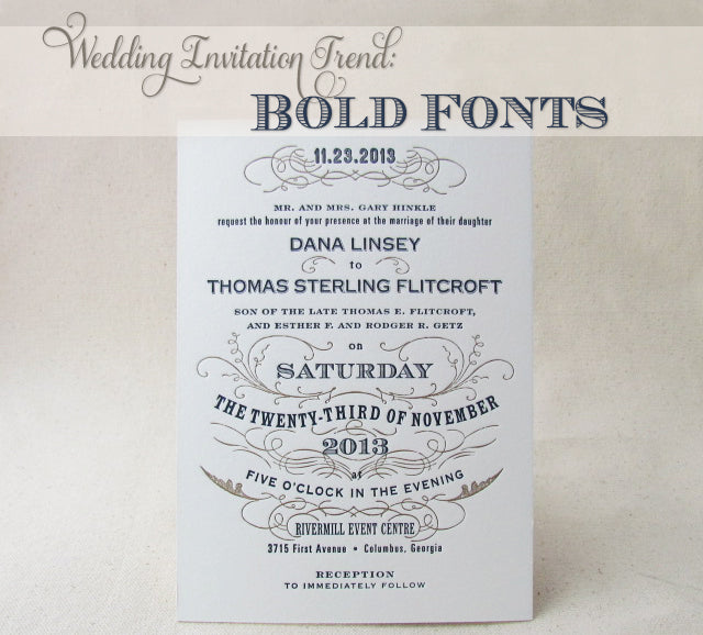 Wedding Invitation Trend: Bold Fonts
