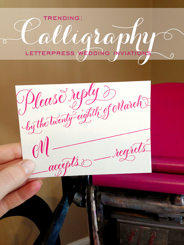 Today on the Press: Calligraphy Invitations