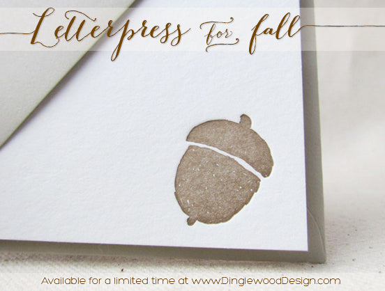 Letterpress for Fall