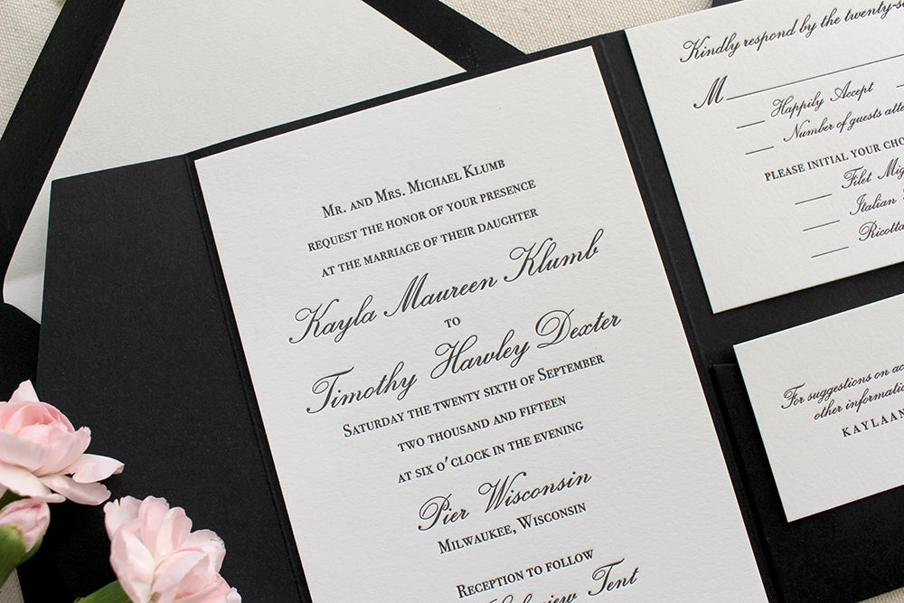 Orchid Suite – Classic Letterpress Printed Wedding Invitations