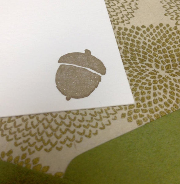 letterpress fall stationery note card