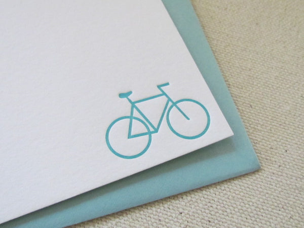 letterpress bicycle stationery
