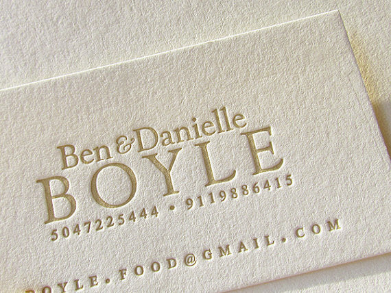 Letterpress printed business cards letterpress business card stationery reheart Image collections