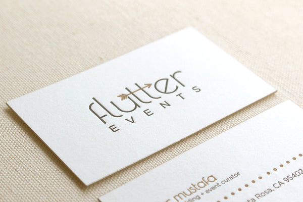 letterpress business stationery cards