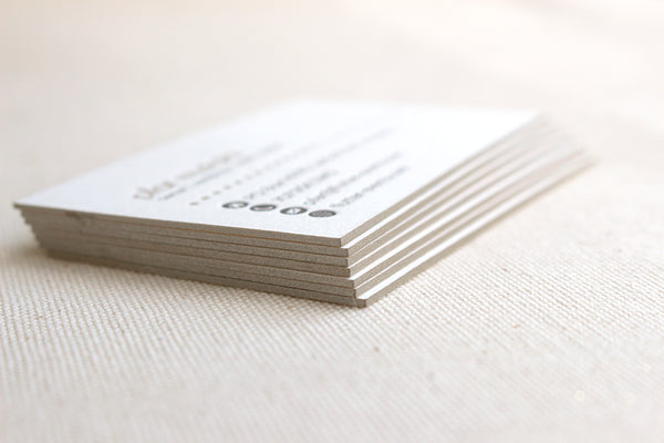 letterpress business cards double thick