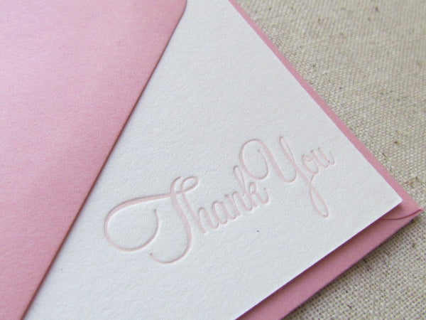 letterpress stationery note card breast cancer