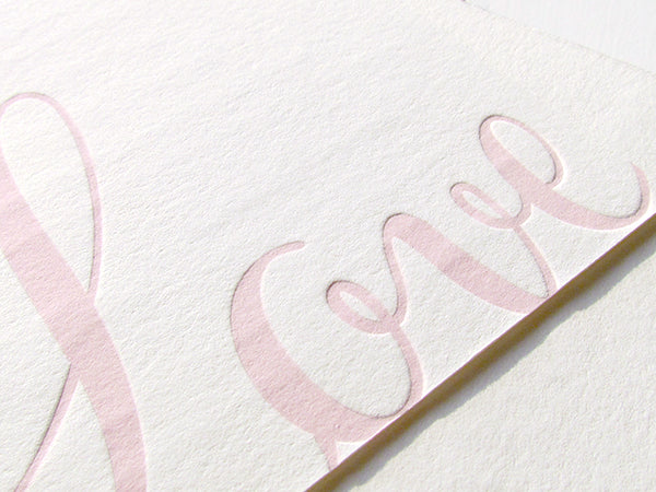 letterpress wedding invitation preppy love up close