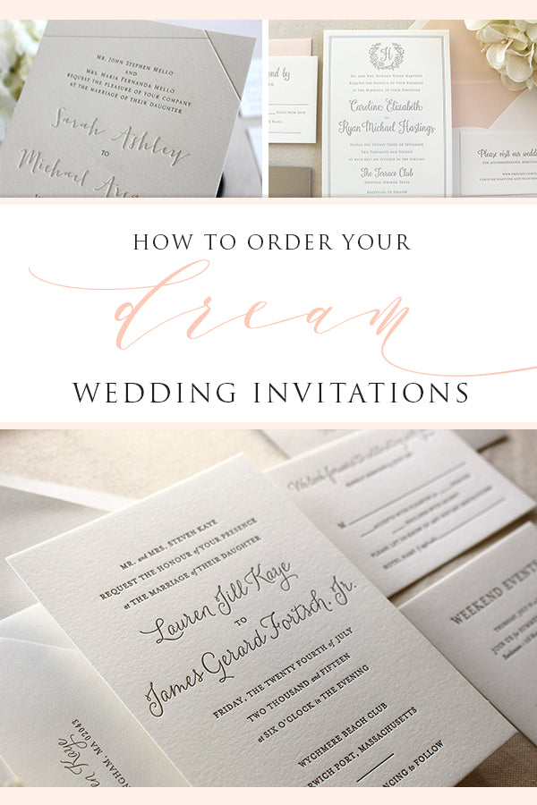 dream wedding invitations