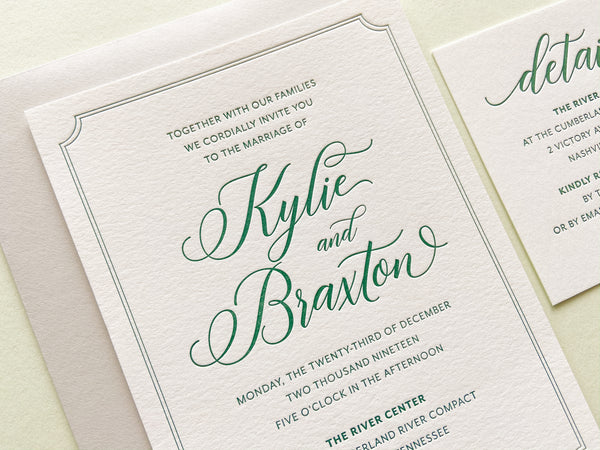 The Kylie Suite - Letterpress Wedding Invitations