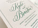 The Kylie Suite - SAMPLE Letterpress Wedding Invitation