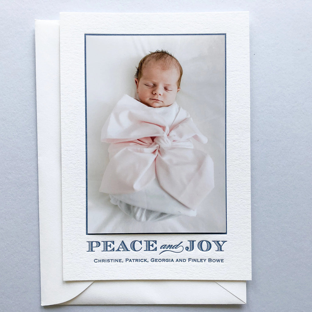 Peace and Joy - Letterpress Holiday Cards