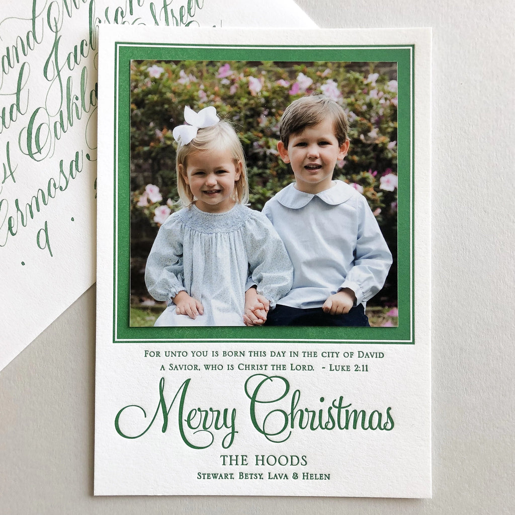 Christmas Scripture - Letterpress Holiday Cards