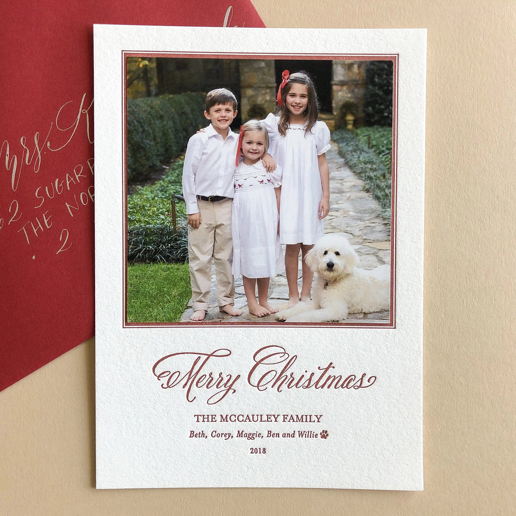 Traditional Christmas - Letterpress Holiday Cards