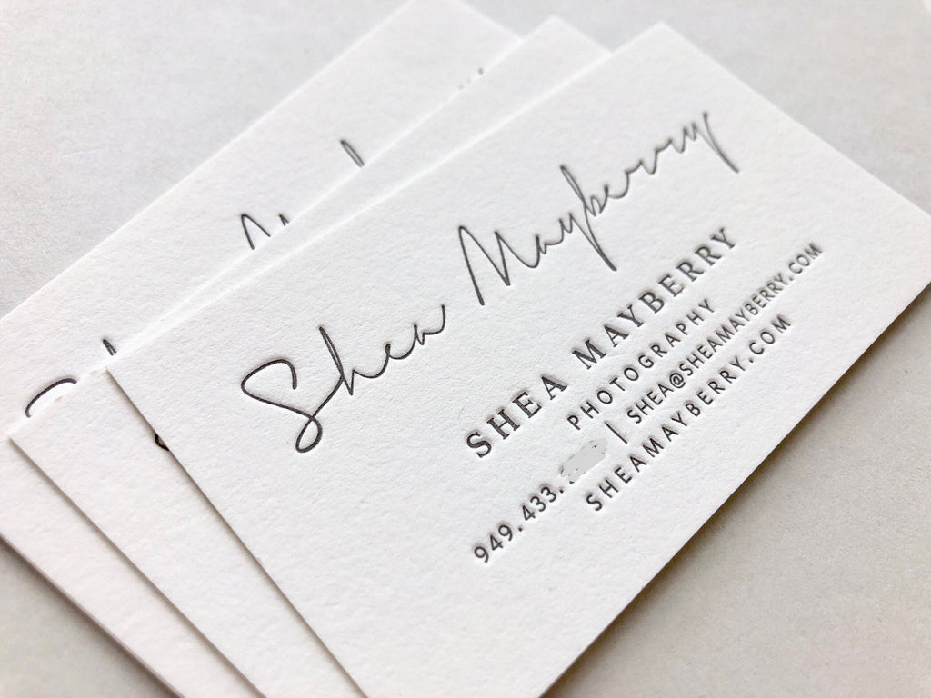 Shea - Letterpress Business Cards