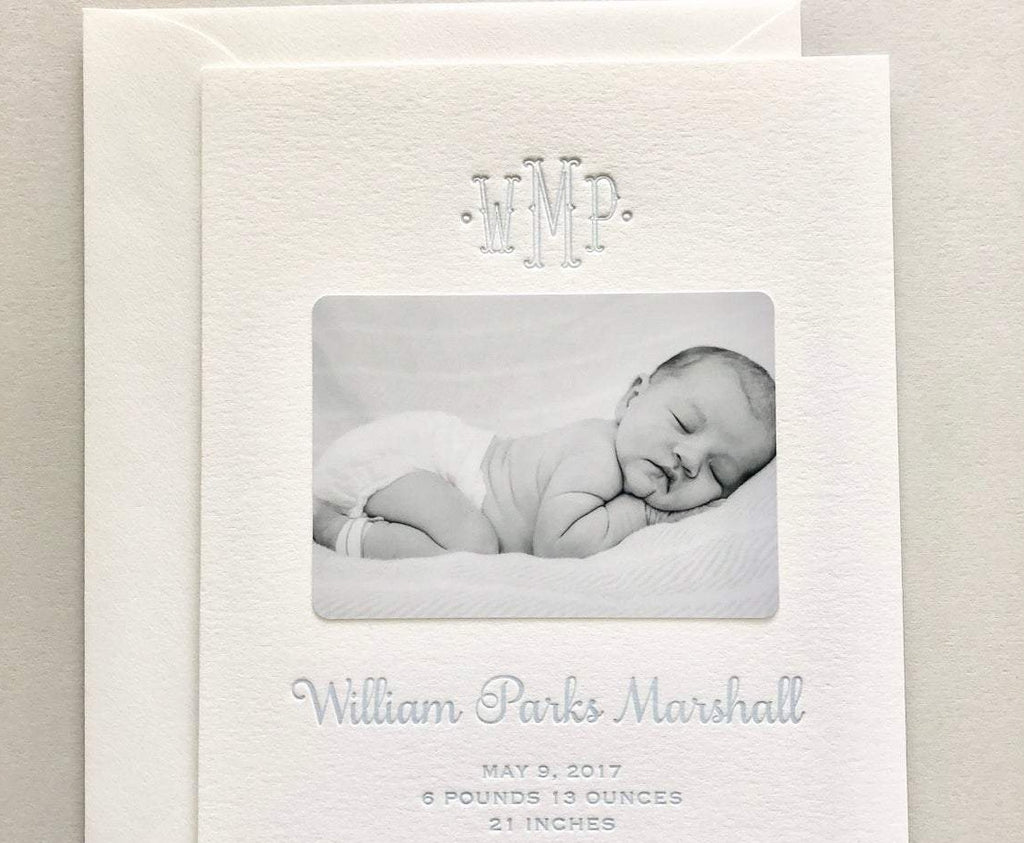 William - Letterpress Birth Announcements