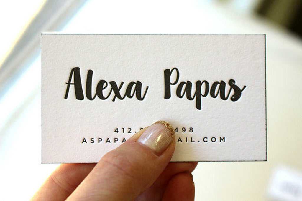 Alexa - Letterpress Business Cards