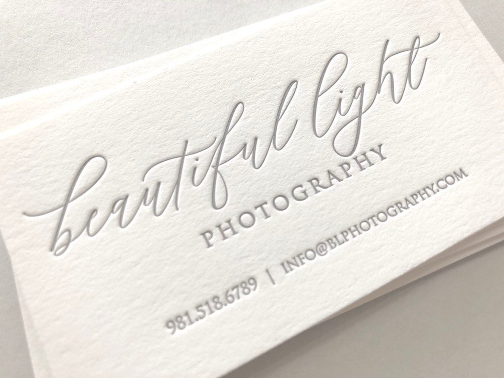 Photographer - Letterpress Business Cards
