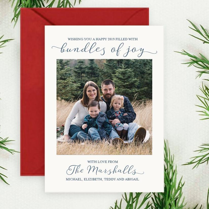 Bundles of Joy - Letterpress Holiday Cards
