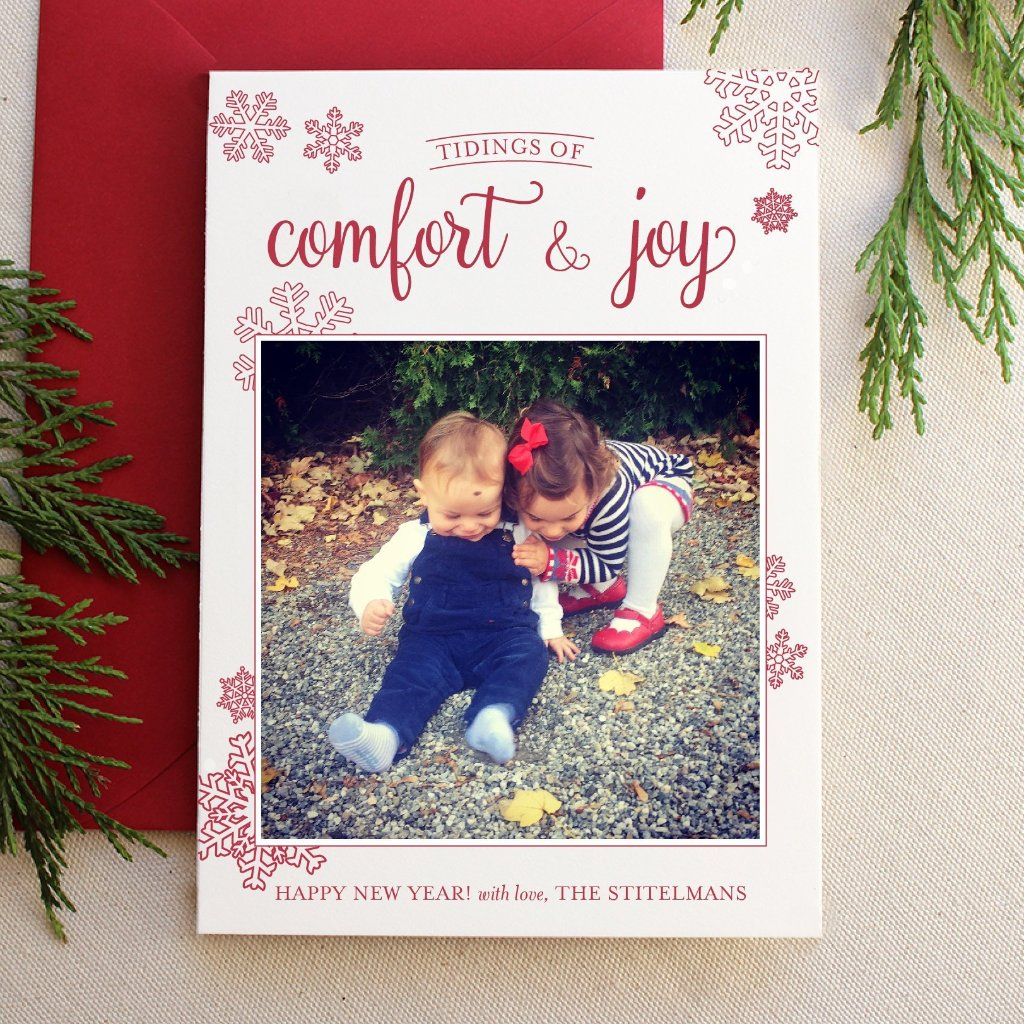 Comfort and Joy - Letterpress Holiday Cards