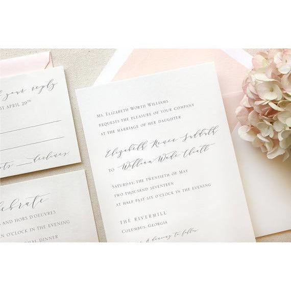 The Rivercrest Suite  - Letterpress Wedding Invitations