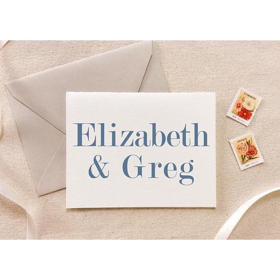 Elizabeth and Greg - Letterpress Folded Stationery
