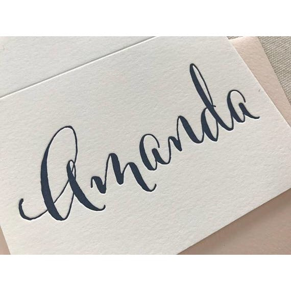Amanda - Letterpress Folded Stationery