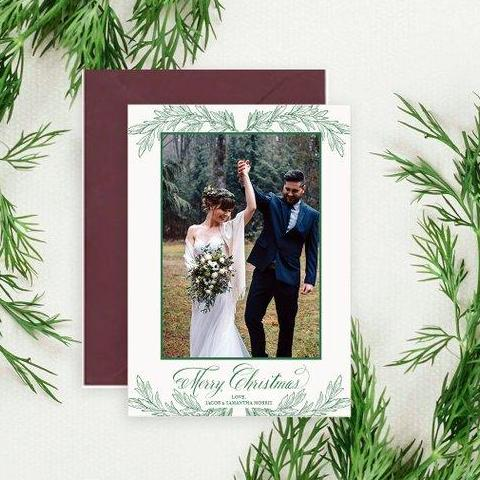 Newlyweds - Letterpress Holiday Cards