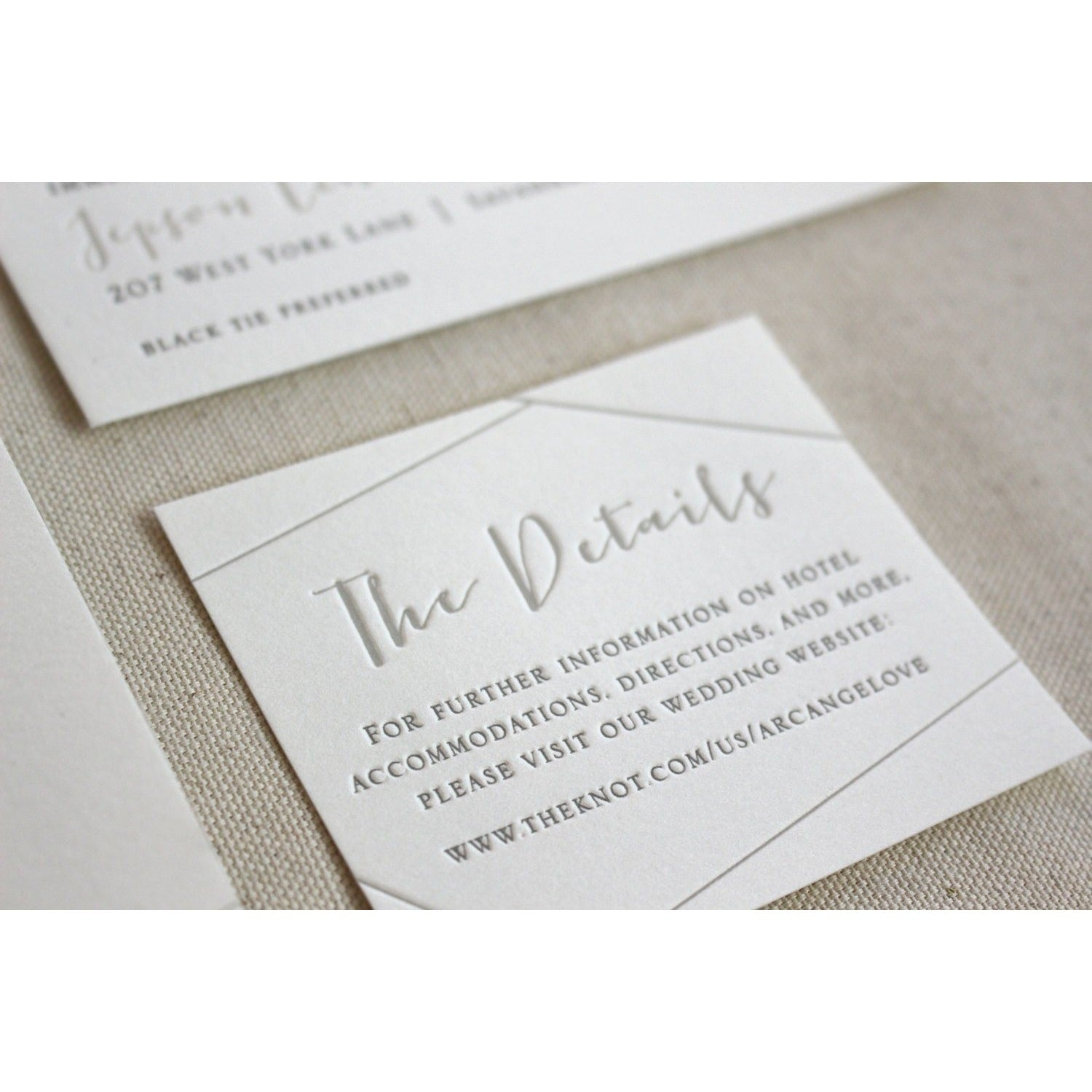 The Juniper Suite - Letterpress Wedding Invitations