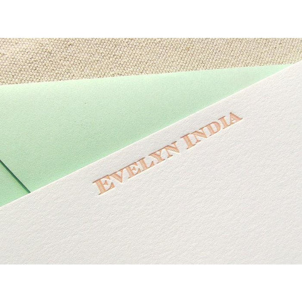 Evelyn - Letterpress Stationery
