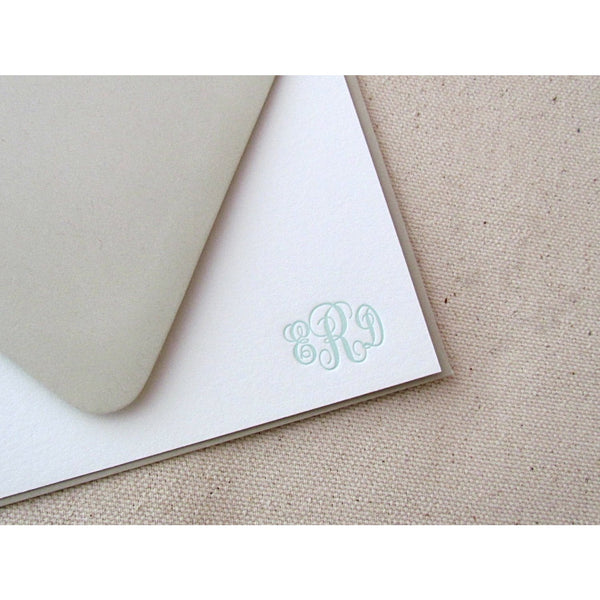 Classic Monogram - Letterpress Stationery