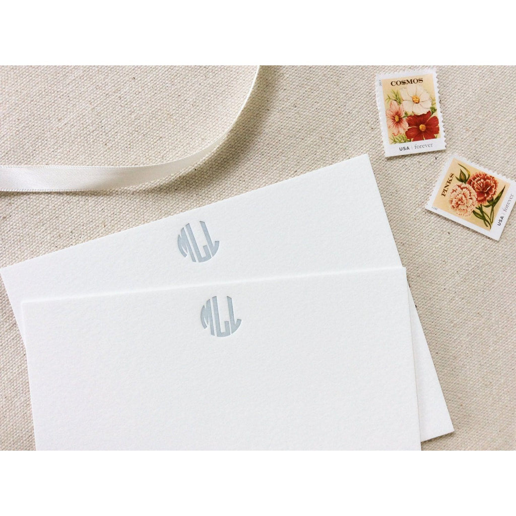 Circle Monogram - Letterpress Stationery