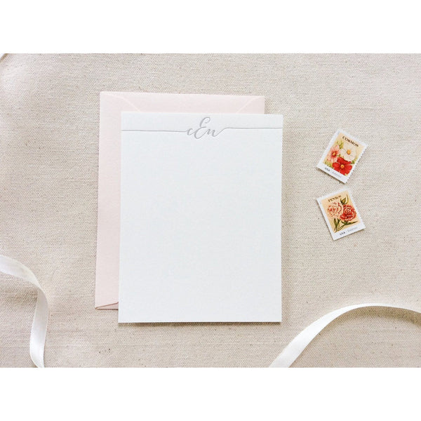Bombshell Monogram - Letterpress Stationery